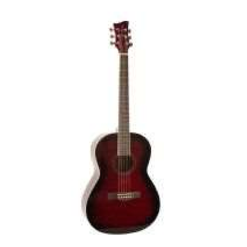 Jay Turser Acoustic Guitar  - Redburst Quilted Jta524-Rsbq - Red One Music
