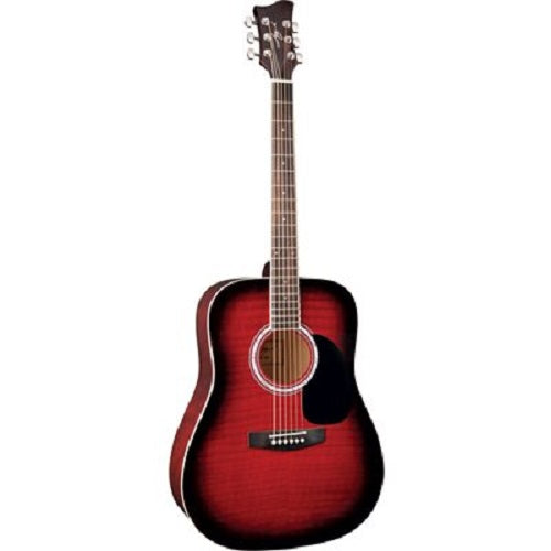 Jay Turser Guitare Acoustique 1 / 2 - Rouge Sunburst Jta502-Rsb