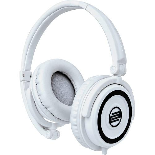 Reloop RHP-5 White Chocolate Crown Dj Headphones W Smartphone Mic Amp Controls - Red One Music