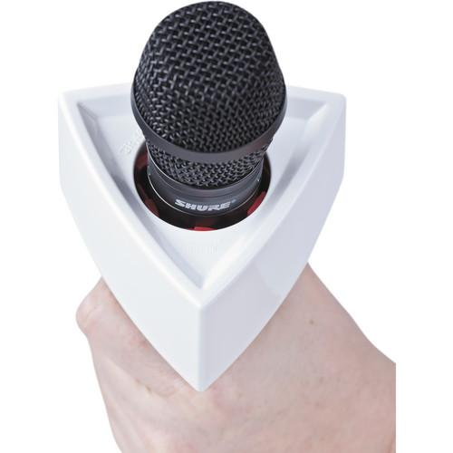 Rycote 107308 Triangle Mic Flag White - Red One Music