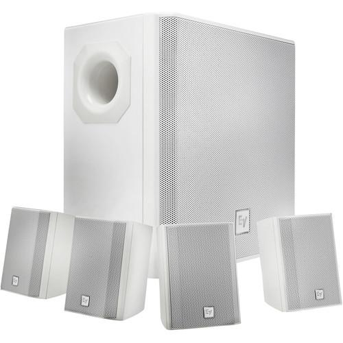 ELECTRO VOICE EVID-S44W SUBWOOFER  4X SATELLITE SPEAKER PACKAGE WHITE