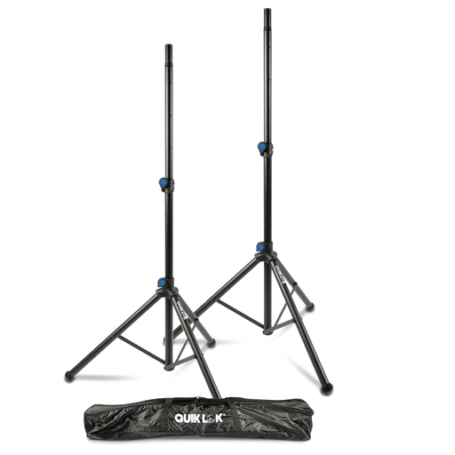QUIKLOK S-171 PACK PAIR OF PROFESSIONNAL SPEAKER STANDS  CARRY BAG