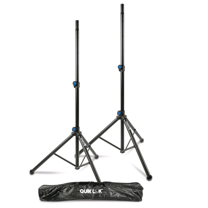 Quiklok S-171 Pack Pair Of Professionnal Speaker Stands  Carry Bag - Red One Music