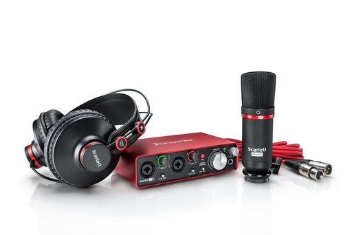 FOCUSRITE SCARLETT PACK D'INTERFACE AUDIO USB 2I2 STUDIO MK2