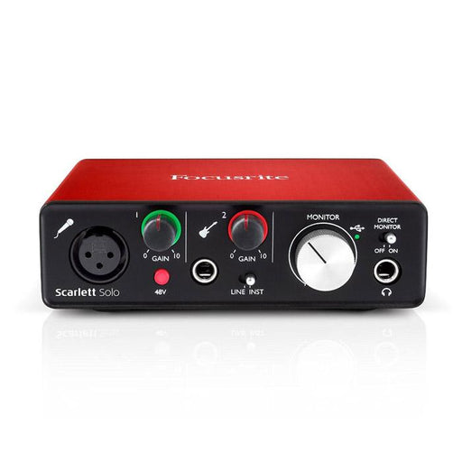 FOCUSRITE SCARLETT SOLO INTERFACE AUDIO USB 2 MK20