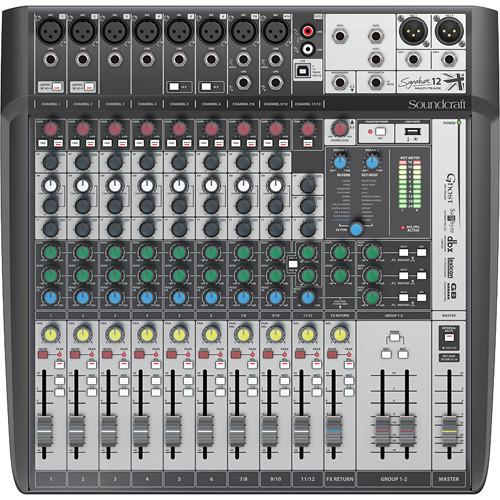 Soundcraft Signature 12 Compact Analogue Mixing Console - Red One Music