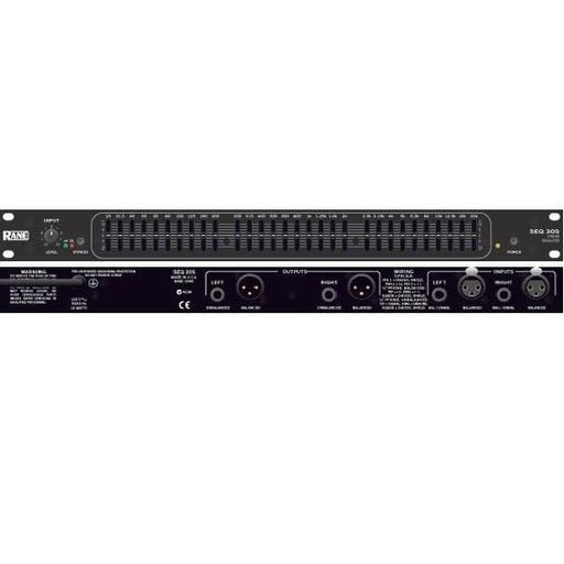 Rane Seq 30S Stereo 30 Band Graphic Equalizer