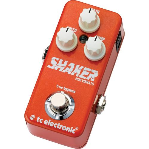 Tc Electronic Shaker Mini Vibrato Mono Vibrato Pedal For Electric Guitar - Red One Music