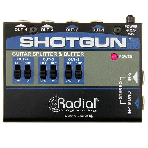 Radial Tonebone Shotgun 4-Channel Amp Driver - Red One Music