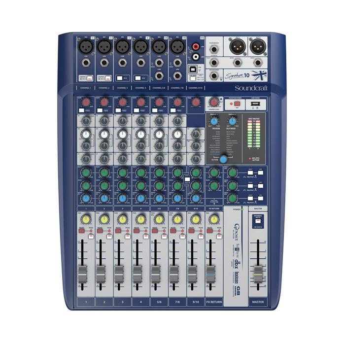 Console de canaux Soundcraft Signature 10 10