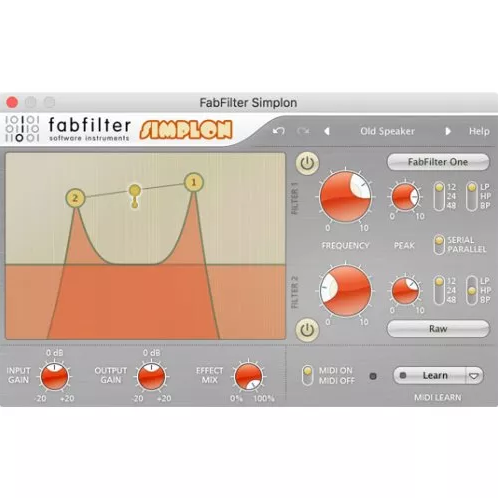 Fabfilter Simplon Filter Plug-In (Download) - Red One Music