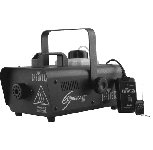 Chauvet Hurricane-H1000 Compact Lightweight Fog Machine Emits Thick Bursts Of Fog To Enhance Any Light Show - Red One Music