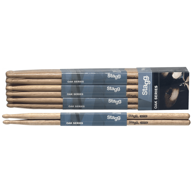 Stagg So7A Drum Sticks - Red One Music