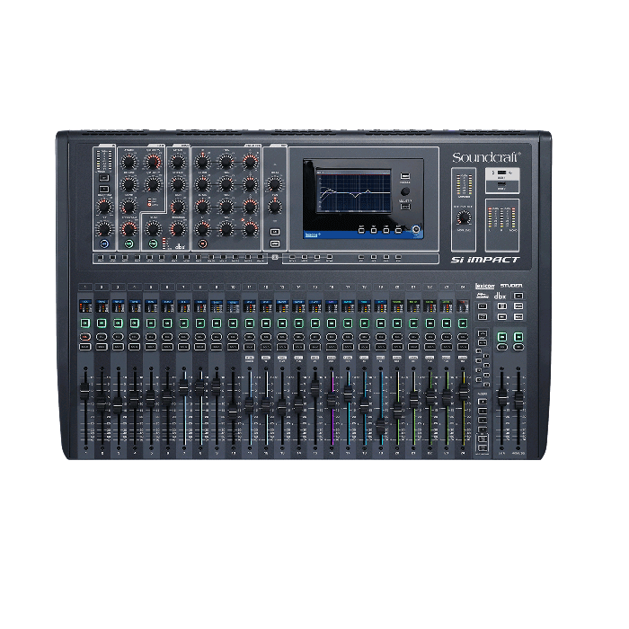 Soundcraft SI Impact 40-Input Digital Mixing Console And 32-In 32-Out Usb Interface And Ipad Control - Red One Music