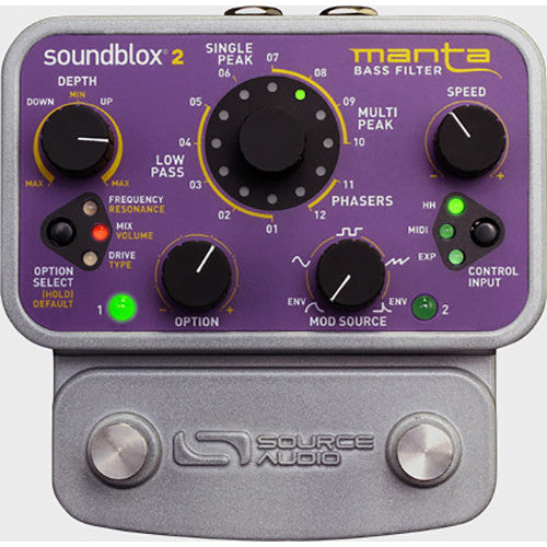 Source Audio SA223 Soundblox 2 Manta Bass Filter Pedal - Red One Music