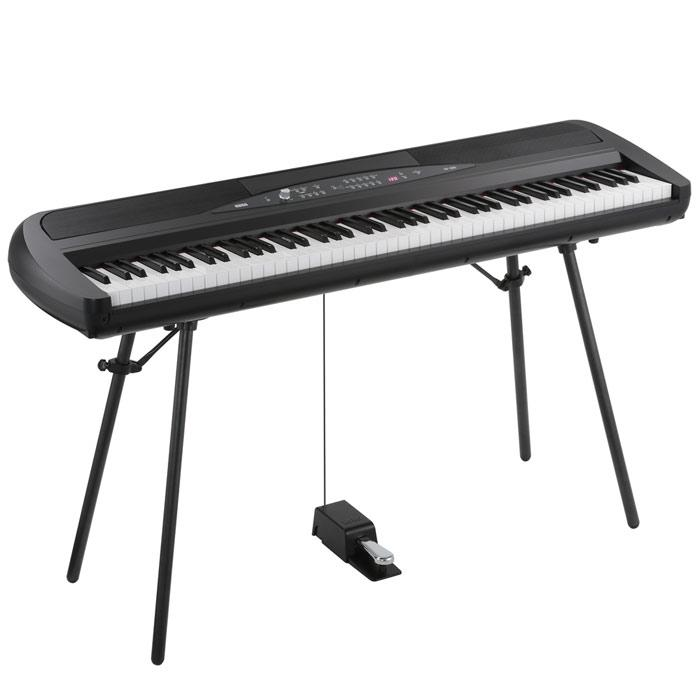 Korg SP280-BK Digital Piano With Stand (Black) - Red One Music