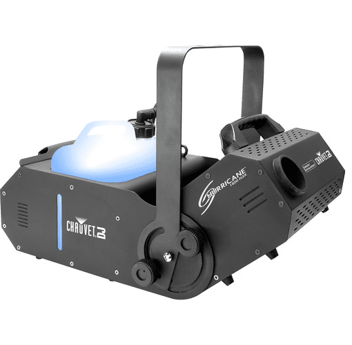 Chauvet Hurricane H1800Flex Compact Water-Based Fog Machine Offers A Manually Adjustable Output Angle Of 180°