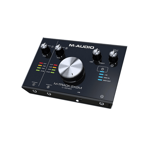 M-Audio MM-TRACK 2X2M C-Series 2-In2-Out USB Audio Interface with MIDI 24-Bit192Khz - Red One Music