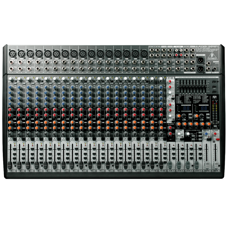Behringer Sx2442Fx  Ultra-Low Noise Design 24-Input 4-Bus Studiolive Mixer - Red One Music