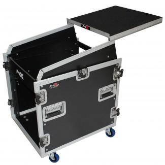Prox T-12MRSS13ULT DJ Combo Flight Case W Étagère pour ordinateur portable Amp Roulettes - Red One Music