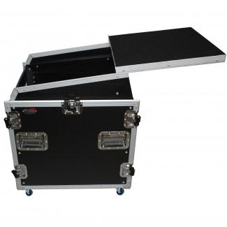 Prox T-12MRSS13ULT DJ Combo Flight Case W Laptop Shelf Amp Casters - Red One Music