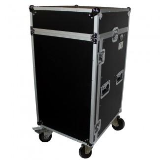 Prox T-18MRLT DJ Combo Flight Case W Laptop Shelf - Red One Music