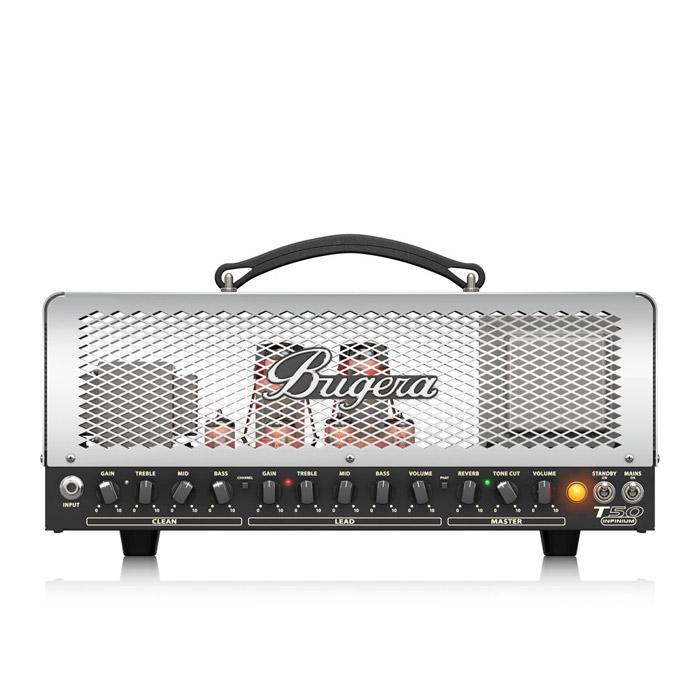 BUGERA T50 INFINIUM CAGE-STYLE 2-CHANNEL TUBE AMPLIFIER HEAD