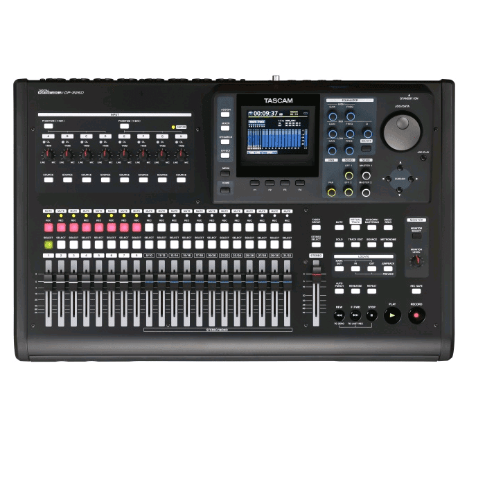 Tascam DP-32SD 32-Track Digital Portastudio - Red One Music