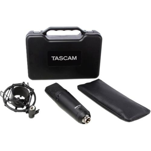 Tascam TM-180 Studio Condenser Microphone With Shockmount Hard Case And Zippered Soft Case
