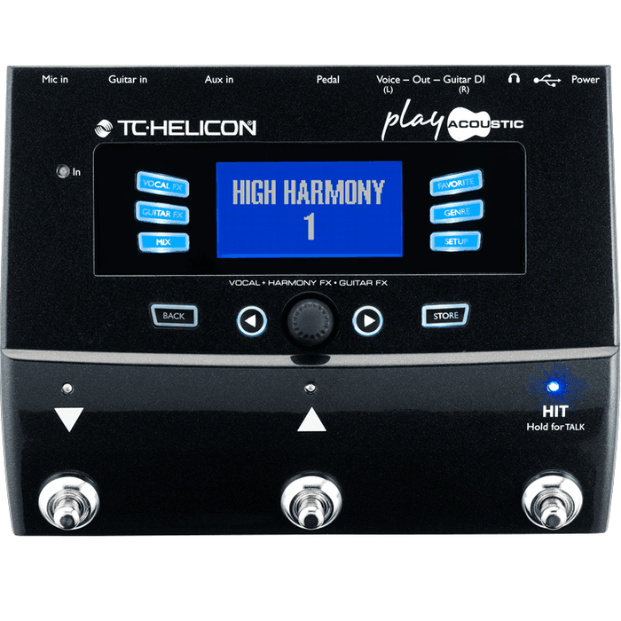 Tc-Helicon Play Pédale de Processeur d'Effets Guitare Acoustique Vocal et Acoustique - Red One Music
