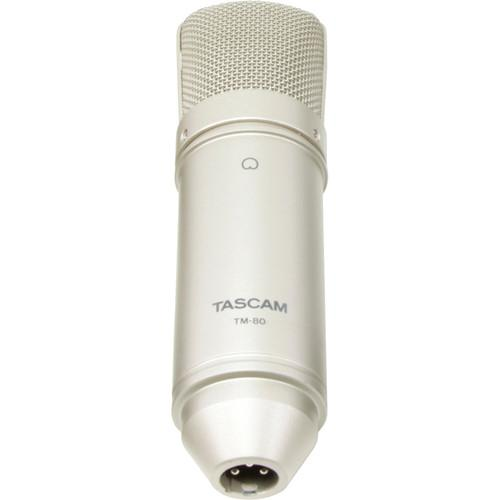 Microphone à condensateur de studio Tascam Tm-80 - Red One Music
