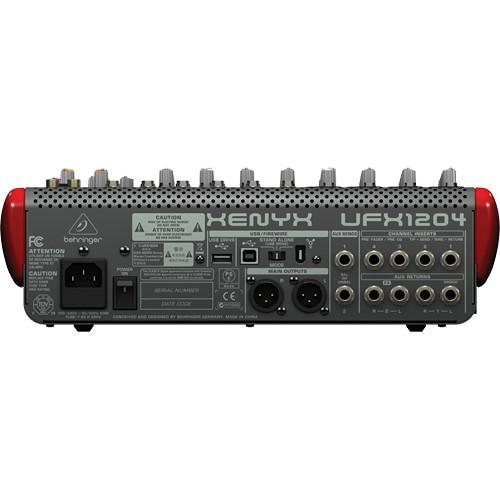 Behringer Ufx1204  Premium 12-Input 4-Bus Mixer With 16X4 Usbfirewire Interface