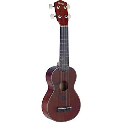 STAGG US20 FLOWER TRADITIONAL SOPRANO UKULELE WITH FLOWER DESIGN