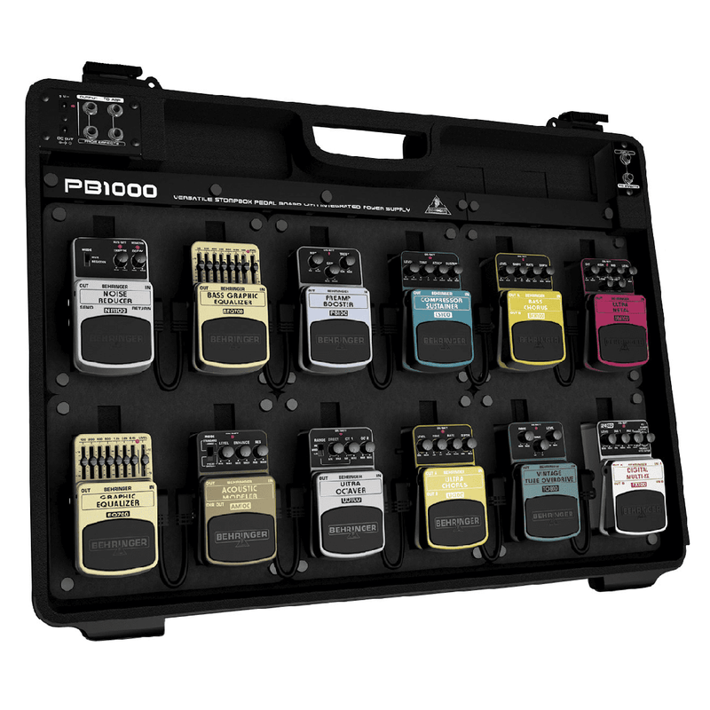 Behringer PB1000 Universal Effects Pedal Floor Board With Integrated Power Supply - Red One Music