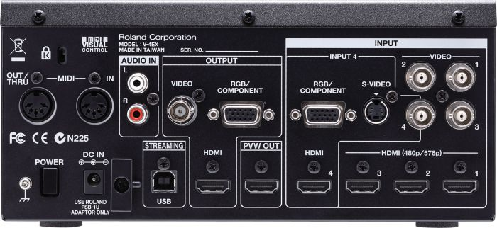 Roland V-4EX HDMI VGA Video Mixer - Red One Music