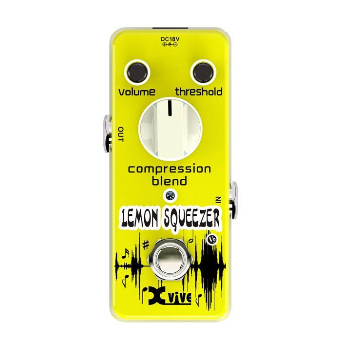 Xvive V9 Lemon Squeezer Compressor Guitar Effects Pedal - Red One Music