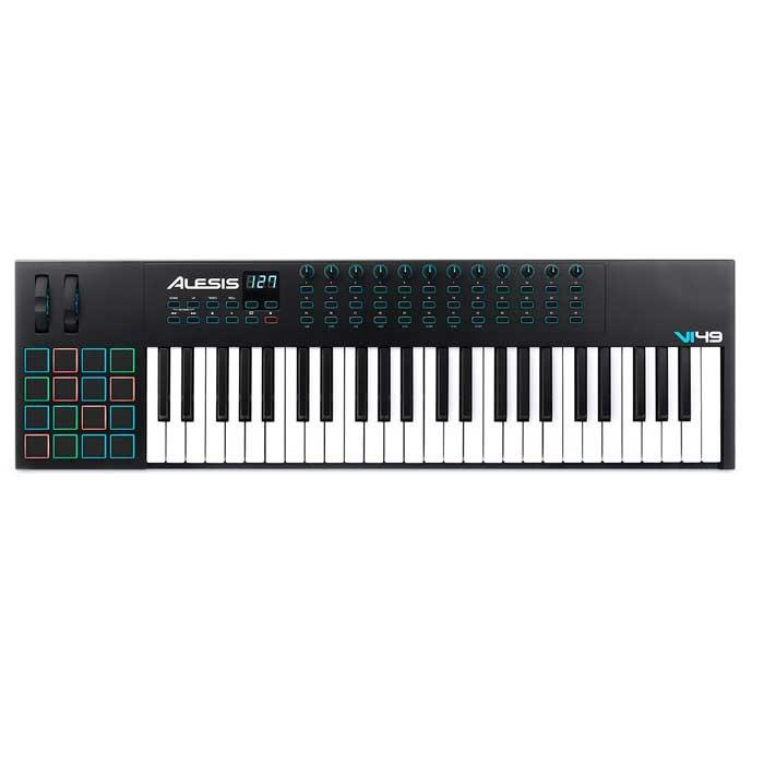 Alesis Vi49 Advanced 49-Key Usbmidi Keyboard Controller - Red One Music