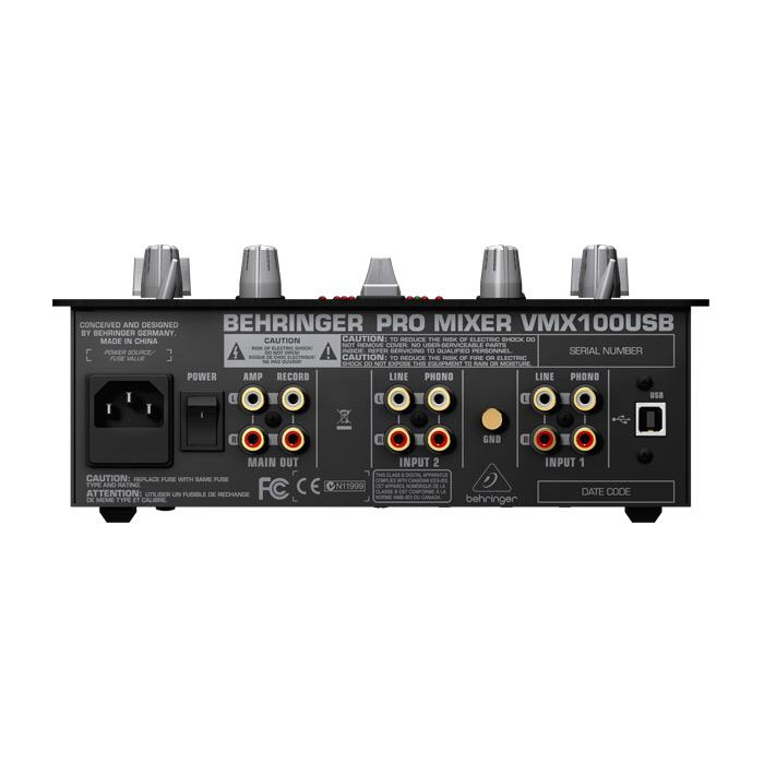Behringer Vmx100Usb 2-Channel Dj Mixer With Usb Interface Bpm Counter And Vca Control