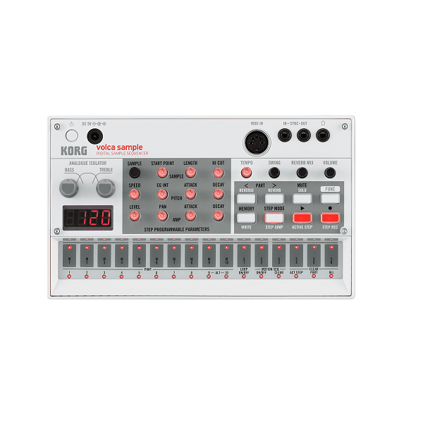 Korg VOLCA SAMPLE Compact Sample Sequencer - Red One Music