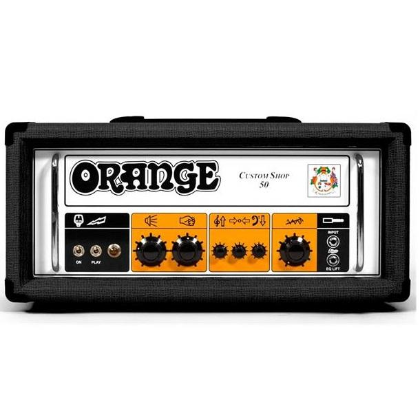 Orange Cs50H-Bk Black Custom Shop 50W Head - Red One Music