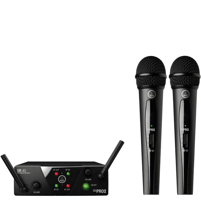 AKG WMS40 Mini2 Dual Handheld Wireless Microphone System