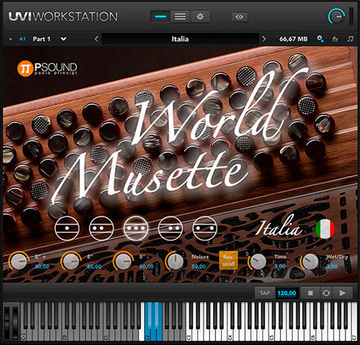 "PSound World Musette - Collection of ""Musette"" Sounds Virtual Instrument (Download)"
