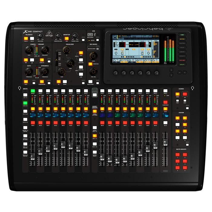 Behringer X32 Compact 40-Input 25-Bus Digital Console With 16 Midas Preamps