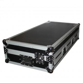 ProX XS-CDiM10WLT DJ Coffin Case For 10 Mixer And 2X CD W Wheels Amp Laptop Shelf - Red One Music