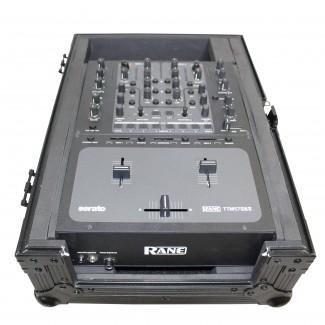 ProX XS-M10BL Mixer Case For Large Format 10 DJ Mixers In Black On Black - Red One Music