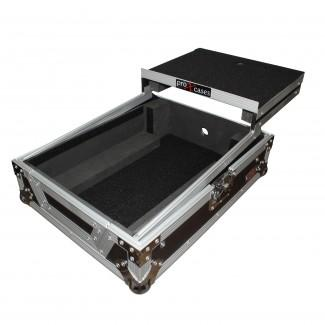 ProX XS-M12LT Mixer ATA Flight Hard Case For Large Format 12 Universal Dj Mixer With Laptop Shelf - Red One Music