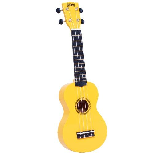 Mahalo Mr1-Yw Soprano Ukulele W/ Bag Rainbow Series - Yellow - Red One Music