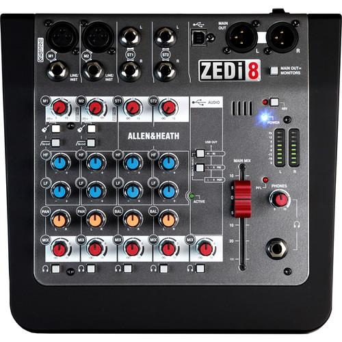 Allen & Heath Zedi8 Mixer hybride compact / Interface USB - Red One Music