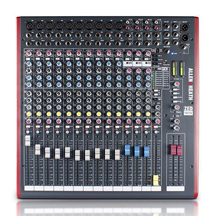 Allen Heath Zed-16Fx Mélangeur USB multi-usage avec Fx