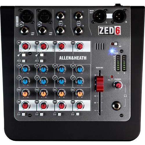 Allen & Heath Zed6 Compact Analog Mixer - Red One Music